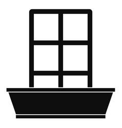 door icon simple style vector image