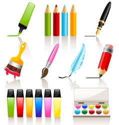 drawing and painting tools vector image