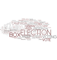 Election word cloud concept vector