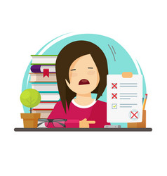 failed exam or bad test results vector image