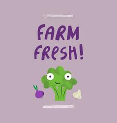 farm fresh had drawn vector image