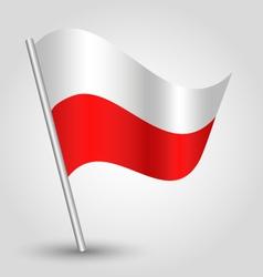 Flag poland vector