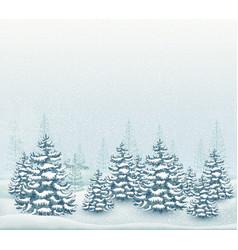 forest winter landscape vector image