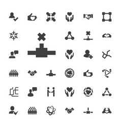 Friendship icons vector