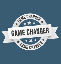game changer ribbon game changer round white sign vector image