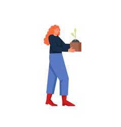 gardening concept flat style design vector image