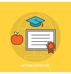 Getting certificate concept vector