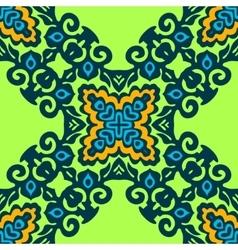 Green flourishSeamless pattern vector