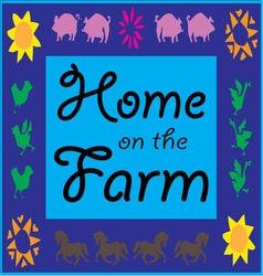 Home on the Farm vector image