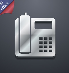 Home phone icon symbol 3d style trendy modern vector