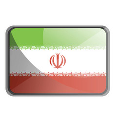 iran flag on white background vector image