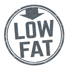 low fat sign or stamp vector image