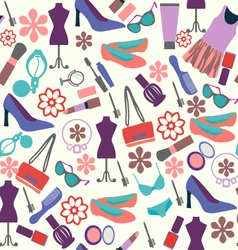 Make up and beauty Fashion background vector