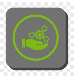 Mechanics Service Rounded Square Button vector image