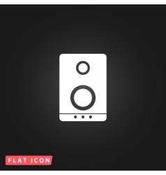 music speakers icon vector image
