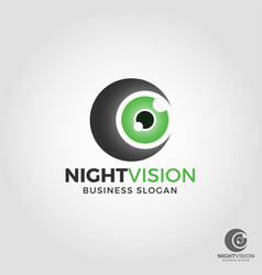 Night vision camera logo vector