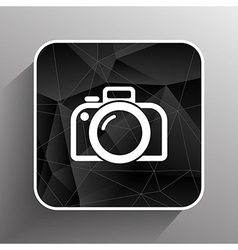 Photo camera icon symbol photography vibrant vector