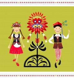 Polish Folk Costume vector