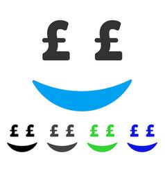Pound businessman smile flat icon vector