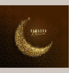 Ramadan kareem greeting concept islamic crescent vector