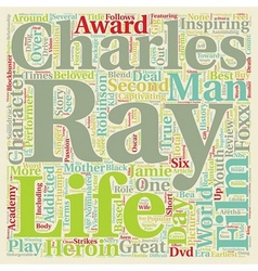 Ray DVD Review text background wordcloud concept vector