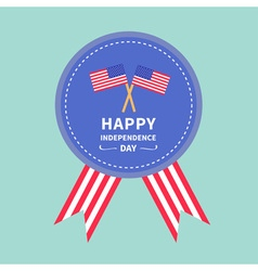 Round medal with two flags Independence day vector image