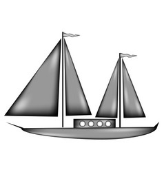 sailing ship sign icon vector image