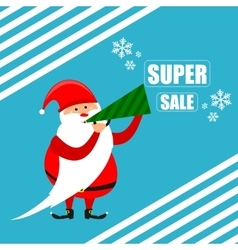 Santa super discount new year vector image