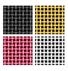 seamless weave rattan pattern vector image