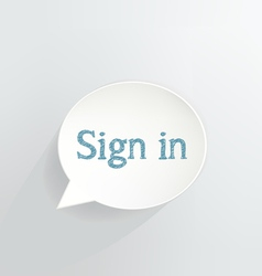 Sign In vector image