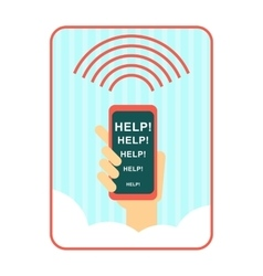 Signal for help background vector