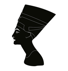 silhouette of nefertiti vector image