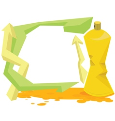 Spray color with graffiti drop on isolate vector image