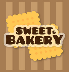 Sweet and bakery background vector