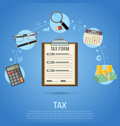 Tax calculation payment accounting paperwork vector