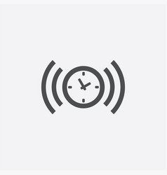 Time alarm icon vector