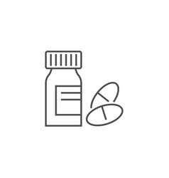 tube and pills icon vector image