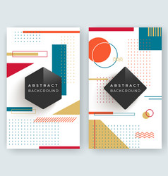 two abstract retro vertical banners with vector image