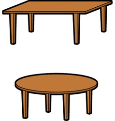 two tables vector image
