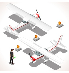 Ultralight Isometric Airplane vector