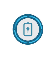 update battery icon vector image
