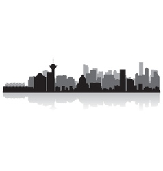 Vancouver Canada city skyline silhouette vector