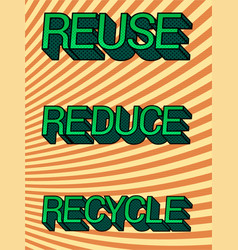 vintage save planet eco poster vector image
