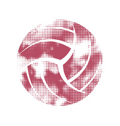 Volleyball pink pattern symbol vector