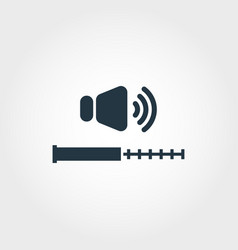 volume measurement icon from measurement icons vector image
