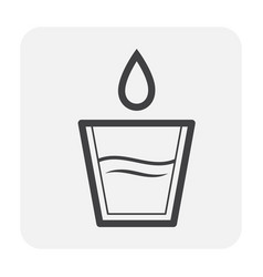 water icon black vector image