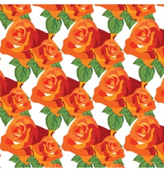 Watercolor red roses pattern vector