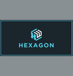 xw hexagon logo design inspiration vector image