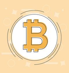 bitcoin concept cryptocurrency logo sigh digital vector image