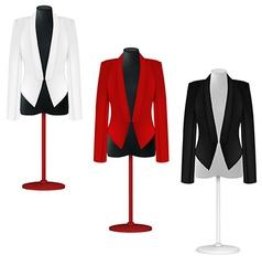 Classic women plain jacket template vector image vector image
